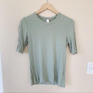 H&M Green Short Sleeve Top